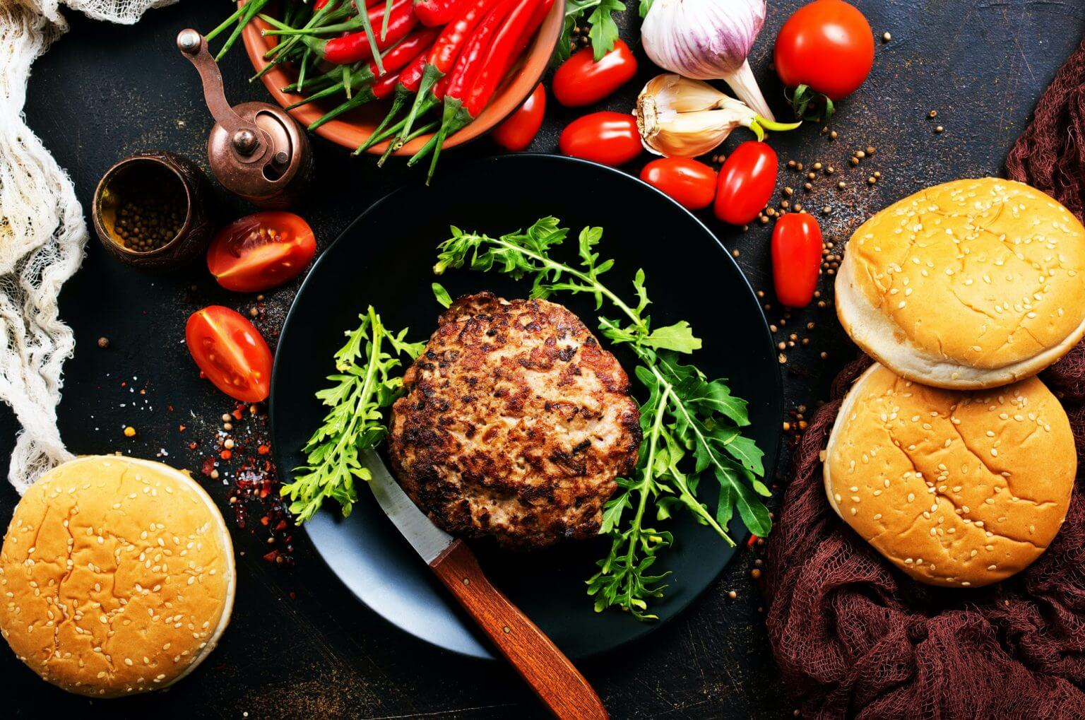 ingredients for burgers